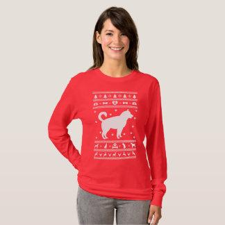 T-shirt Noël laid de chandail de chien enroué