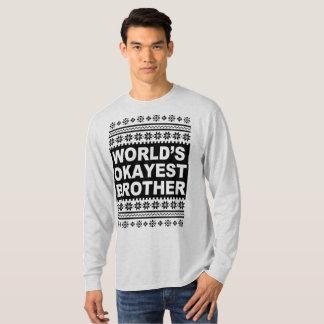 T-shirt Noël laid Sweate de chemise de frère d'Okayest des