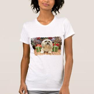 T-shirt Noël - Lhasa Apso - solo