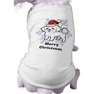 T-shirt Noël maltais (chiot coupé)