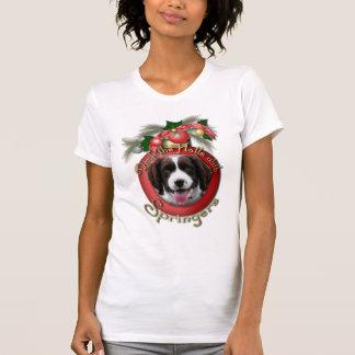 T-shirt Noël - plate-forme le springer spaniel Baxter de