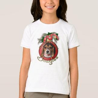 T-shirt Noël - plate-forme les halls - beagles