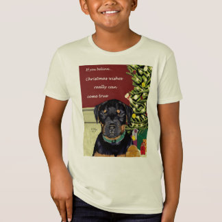 T-Shirt Noël souhaite à des enfants la pièce en t