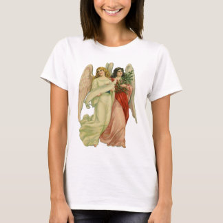 T-shirt Noël vintage, ange victorien antique découpé avec