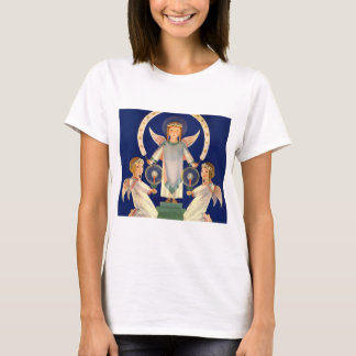 T-shirt Noël vintage, anges de Père Noël Lucia de