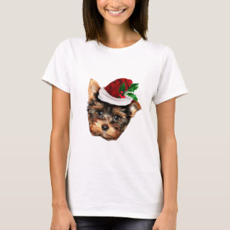 T-shirt Noël Yorkshire Terrier