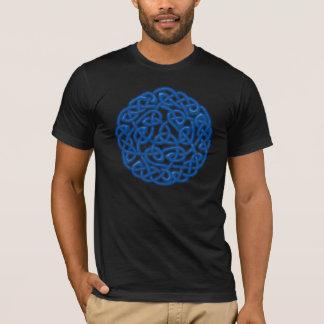 T-shirt Noeud celtique traditionnel (lueur bleue)