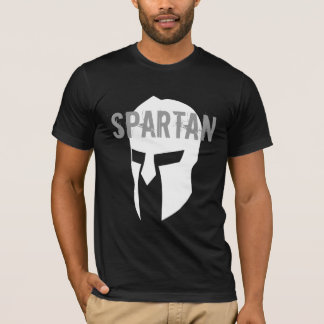 T-shirt noir américain de base spartiate