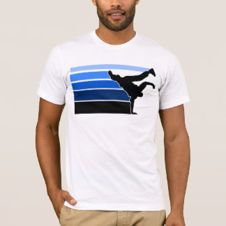T-shirt Noir bleu de gradient de BBOY