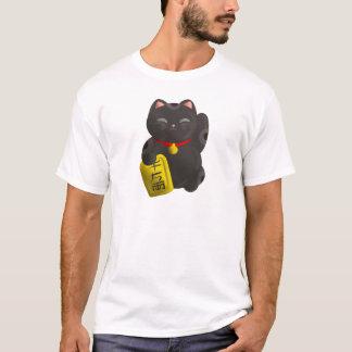 T-shirt Noir chanceux de chat