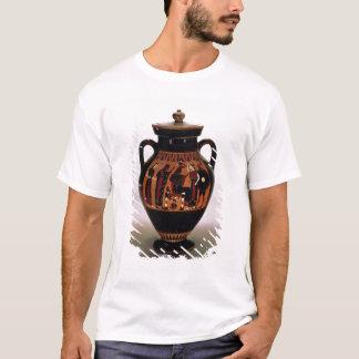 T-shirt Noir-chiffre amphora de grenier dépeignant la