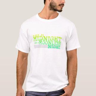 T-shirt Noir comme minuit une nuit sans lune
