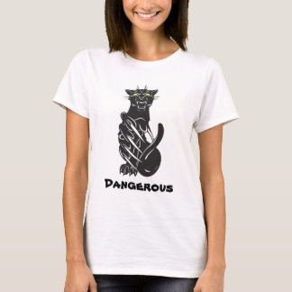 T-shirt noir dangereux de Jaguar