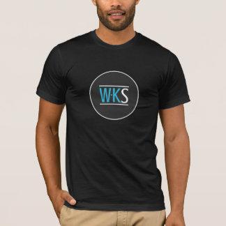 T-shirt Noir de à manches courtes du WKS des hommes