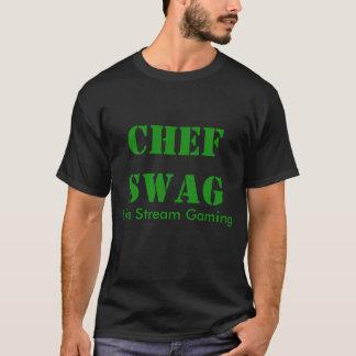 T-shirt noir de base de butin de chef