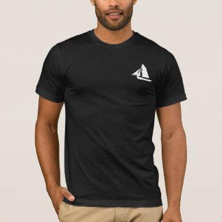 T-shirt noir de capitaine Sailor Name Template
