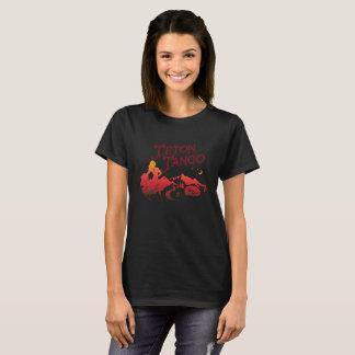 T-shirt Noir de conception de tango de Teton