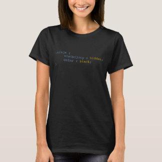 T-shirt Noir de couleur caché par visibilité de Ninja