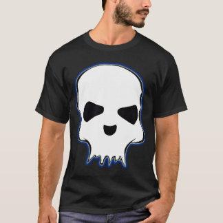 T-shirt noir de crâne