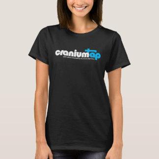 T-shirt noir de CraniumTap des femmes