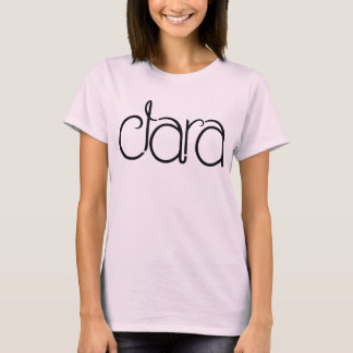 T-shirt noir de dames de Clara