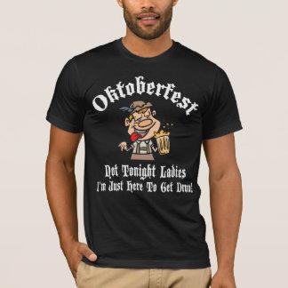 T-shirt noir de dames d'Oktoberfest pas ce soir