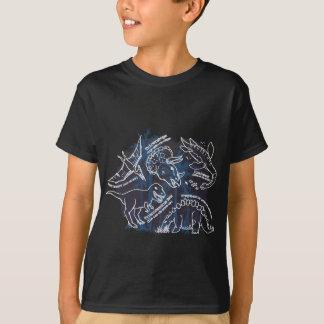 T-shirt noir de dinosaure