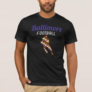 T-shirt Noir de douille de short du football de Baltimore