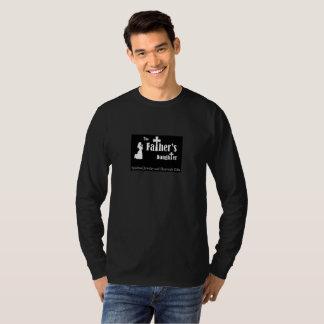 T-shirt noir de douille de TFD long