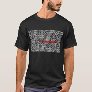 T-shirt noir de f1sh