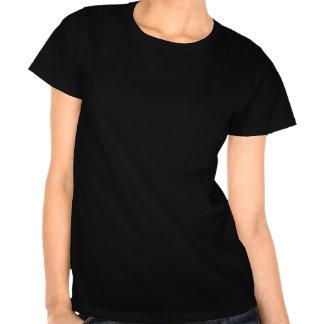 T-shirt noir de filles de technologie avec le poin
