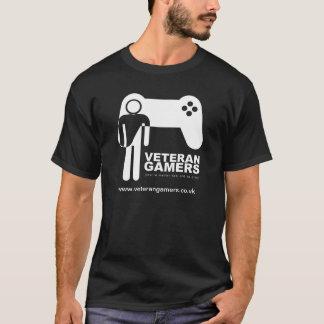 T-shirt noir de Gamers de vétéran