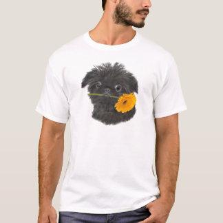 T-shirt Noir de griffon de Bruxelles pour l'habillement