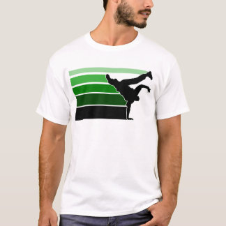 T-shirt Noir de grn de gradient de BBOY