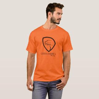 T-shirt noir de logo de Corsa des hommes