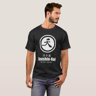 T-shirt noir de logo de karaté de Tenshin-Kai