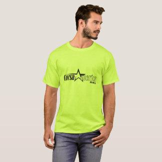 T-shirt noir de logo d'étoile de Corsa des hommes