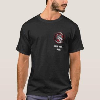 T-shirt Noir de loup solitaire d'équipe
