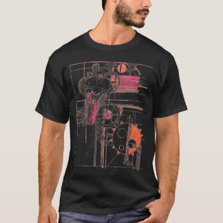 T-shirt noir de motocross