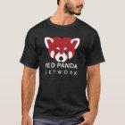 T-shirt Noir de réseau de panda rouge