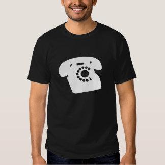 T-shirt noir de téléphone de types rétro