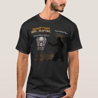 T-shirt noir d'obscurité de championnat d'uF