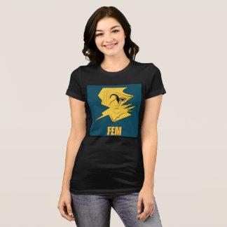 T-shirt noir du marché des changes #2 de la femme