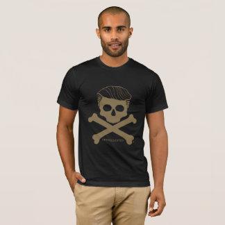 T-shirt Noir du t des hommes avec le logo d'or