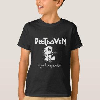 T-shirt noir en métal de Beethoven