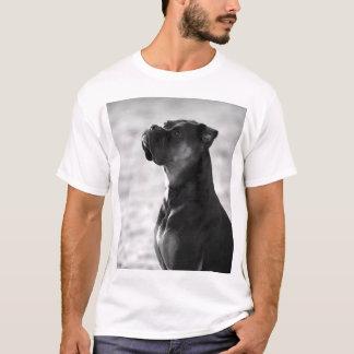 T-shirt noir et blanc de boxeur