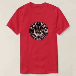T-shirt Noir et blanc de connaisseur de bière de métier