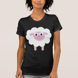 T-shirt noir et blanc de moutons mignons de bande