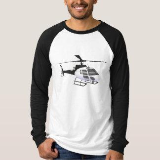 T-shirt noir et blanc d'hélicoptère