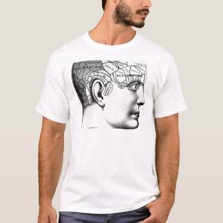 T-shirt Noir et blanc principal de phrénologie